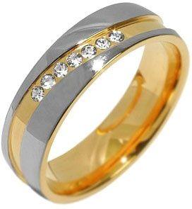 Silvego Poročni jekleni prstan za ženske MARIAGE RRC2050-Z (Obseg 50 mm)