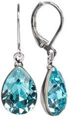 Troli Náušnice Pear 14 mm Light Turquoise