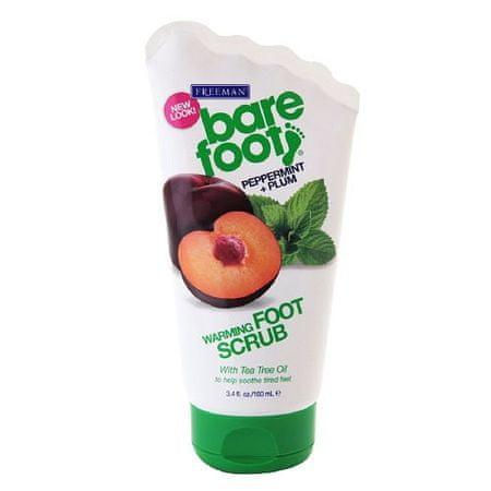 Freeman Önmelegedő peeling láb menta és a szilva (Melegítő Foot Scrub borsmenta Plum +) 100 ml