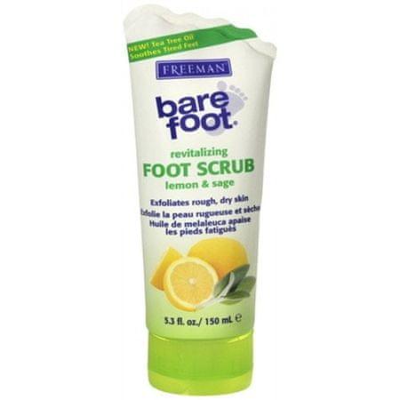 Freeman Revitalizációs peeling lábak citrom és zsálya (revitalizáló Foot Scrub Lemon & Sage) 150 ml