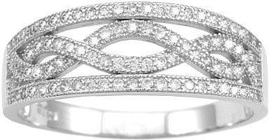 Silvego Srebrny Pierścień Aida JJJR0120 (obwód 49 mm) srebro 925/1000
