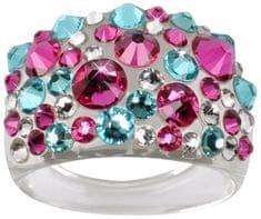 Troli Prsteň Bubble Pink / Turquoise