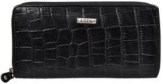 Lagen Kobiet skórzanego portfela czarne 3771 / C-1