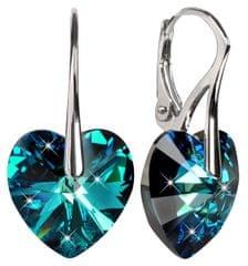Troli Náušnice Srdce 14 mm Bermuda Blue