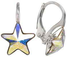 Troli Dívčí stříbrné náušnice Star 10 mm Crystal AB stříbro 925/1000