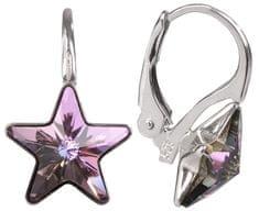 Troli Dívčí stříbrné náušnice Star 10 mm Vitrail Light stříbro 925/1000