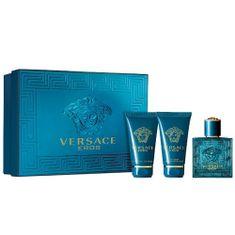 Versace Eros - toaletní voda s rozprašovačem 50 ml + sprchový gel 50 ml + balzám po holení 50 ml