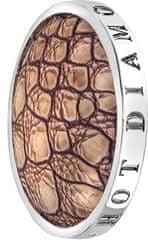 Hot Diamonds Přívěsek Emozioni Faux Crocodile Light Brown EC082-092 stříbro 925/1000