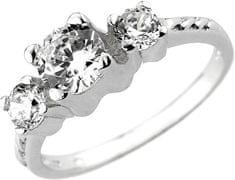 Silvego Zaročni prstan iz cirkonije Via iz srebra JJJR0801 srebro 925/1000