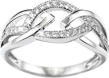 Silvego ELISA pierścień srebra JJJR0222 (obwód 58 mm) srebro 925/1000