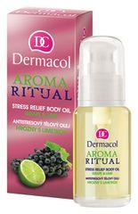 Dermacol Antistresový telový olej Hrozno s limetkou 50 ml