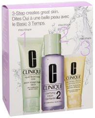 Clinique Arcápoló alapcsomag száraz és vegyes bőrre - praktikus utazási kiszerelés