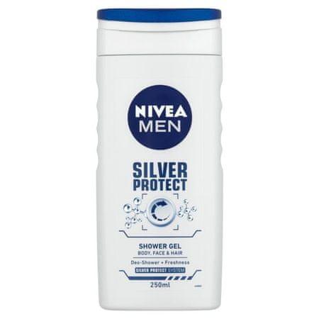 Nivea Żel pod prysznic dla mężczyzn Srebro Protect (objętość 250 ml)