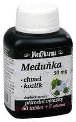 MedPharma Meduňka 50 mg + chmel + kozlík 60 tbl. + 7 tbl. ZDARMA