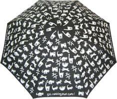 Blooming Brollies Panie mechaniczny składany parasol Płaskie Koty CFCF