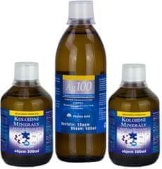 Pharma Activ Koloidní minerály 2x 300 ml + Koloidní stříbro Ag100 (10ppm) 500 ml ZDARMA