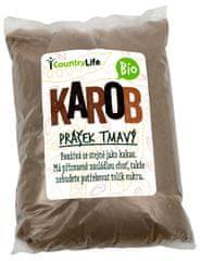 Country Life BIO Karobové prášok tmavý 500 g