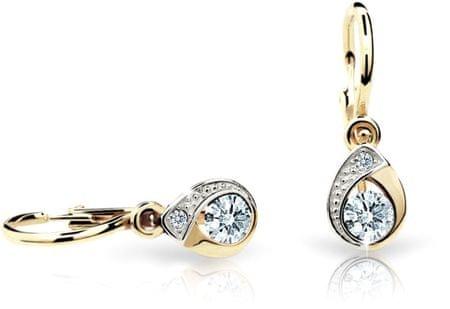 Cutie Jewellery Gyermek fülbevaló C1898-10-X-1 (szín világos) sárga arany 585/1000