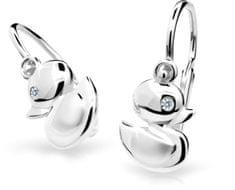 Cutie Jewellery Detské náušnice C1954-10-10-X-2 biele zlato 585/1000