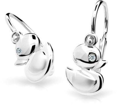 a83b8c85d Cutie Jewellery Dětské náušnice C1954-10-10-X-2 zlato bílé 585/1000 ...