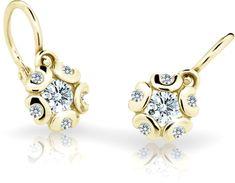 Cutie Jewellery Detské náušnice C2178-10-X-1 žlté zlato 585/1000