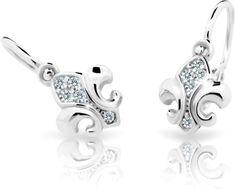 Cutie Jewellery Dzieci kolczyki C2219-10-10-X-2 białe złoto 585/1000