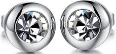 Troli Drobné náušnice s čirým krystalem KES-046
