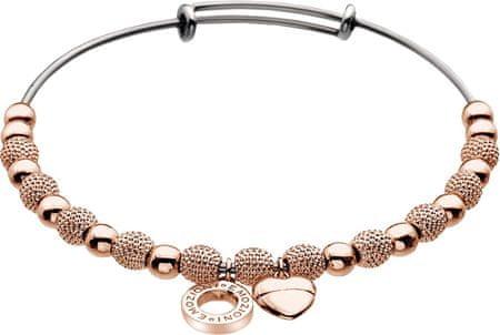 Hot Diamonds Nemesacél karkötő Emozioni Rose Gold Ula Bangle DC098