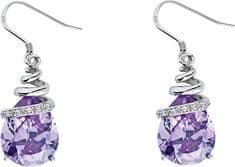 Preciosa Náušnice Elegant Violet 5027 56 striebro 925/1000
