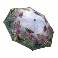 Blooming Brollies Panie składane w pełni automatyczny parasol motyla Mountain GBFBM