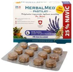 Simply you HerbalMed pastilky Dr. Weiss pri nachladnutí bez cukru 24 pastiliek + 6 pastiliek ZADARMO