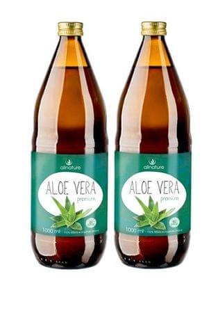 Allnature Aloe vera Premium 1000 ml + 1000 ml ZADARMO