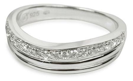 Silver Cat Ezüst gyűrű kristályokkal SC037 (Kerület 52 mm) ezüst 925/1000