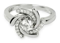 Silver Cat Srebrni prstan s kristali SC040 srebro 925/1000