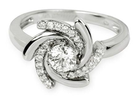 Silver Cat Ezüst gyűrű kristályokkal SC040 (Kerület 58 mm) ezüst 925/1000