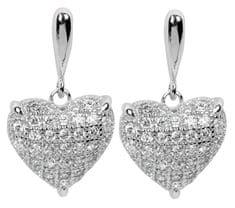 Silver Cat Srebra kolczyków z kryształami SC006 srebro 925/1000