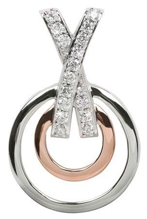 Silver Cat Srebrn obesek s kristali SC026 srebro 925/1000