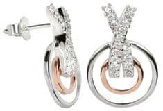 Silver Cat Srebra kolczyków z kryształami SC027 srebro 925/1000