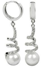 Silver Cat Srebra kolczyków z kryształami SC030 srebro 925/1000