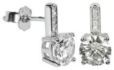 Silver Cat Srebra kolczyków z kryształami SC033 srebro 925/1000