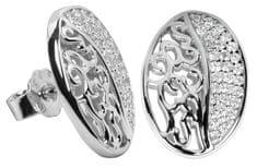 Silver Cat Srebra kolczyków z kryształami SC045 srebro 925/1000