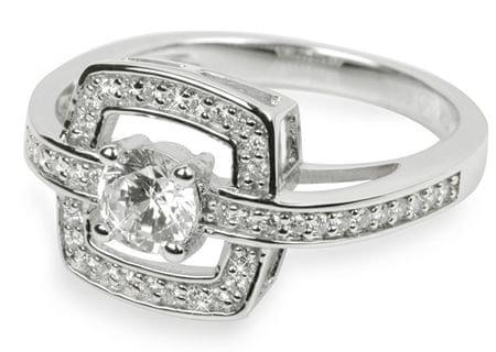 Silver Cat Ezüst gyűrű kristályokkal SC046 (áramkör 60 mm) ezüst 925/1000