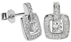 Silver Cat Srebra kolczyków z kryształami SC048 srebro 925/1000