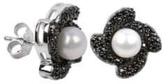 Silver Cat Srebra kolczyków z kryształami SC063 srebro 925/1000