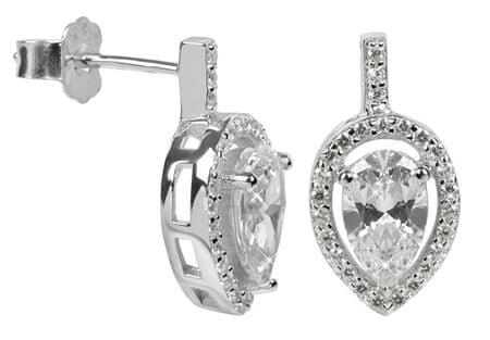 Silver Cat Ezüst fülbevaló kristályokkal SC072 ezüst 925/1000