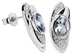 Silver Cat Srebra kolczyków z kryształami SC057 srebro 925/1000