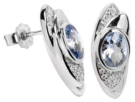 Silver Cat Ezüst fülbevaló kristályokkal SC057 ezüst 925/1000