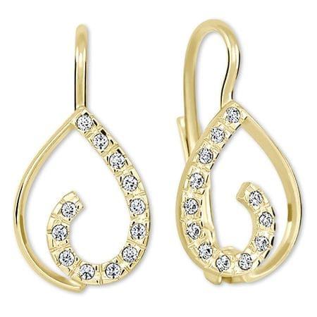 9ac1f0d39 Brilio Zlaté náušnice s kryštálmi 239 001 00610 - 1,55 g žlté zlato ...