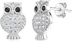 Silvego Srebrne kolczyki sowa SHZE0420 srebro 925/1000