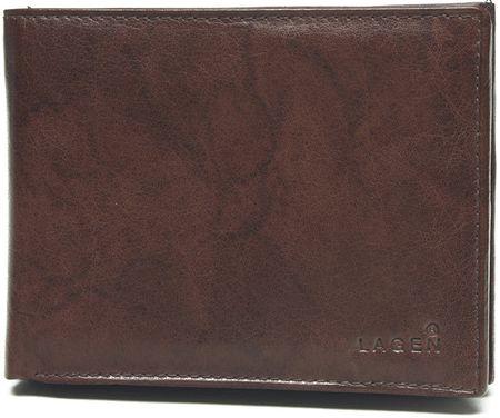 Lagen Pánska kožená peňaženka V-104 Brown